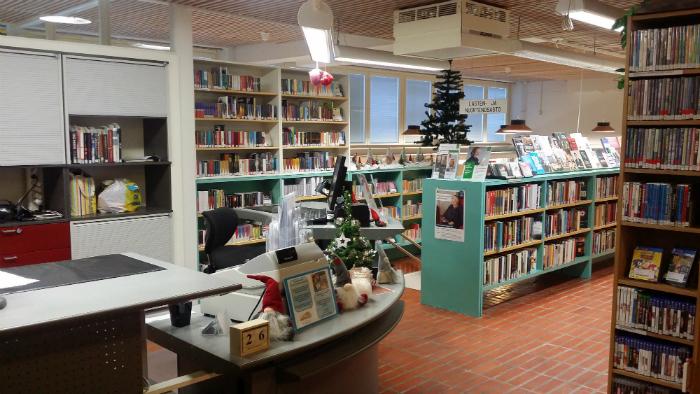 Tervolan kirjaston asiakaspalvelupiste