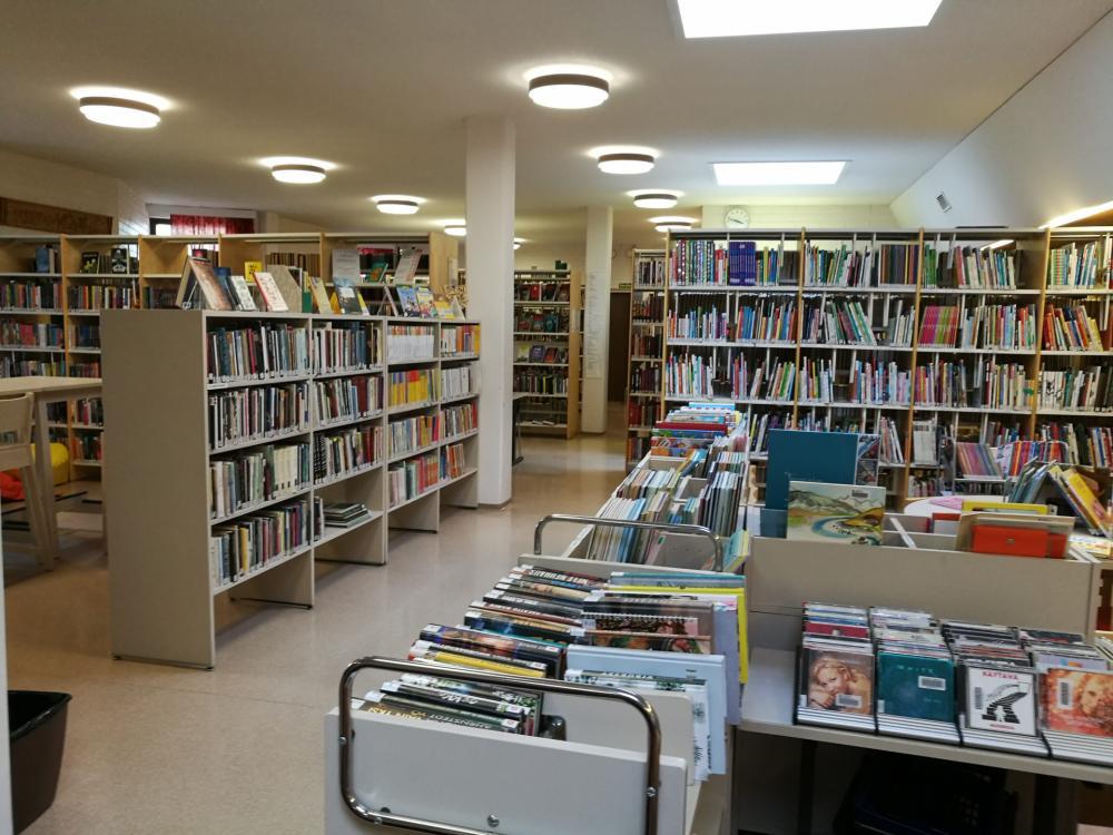 Savukosken kirjaston sisäkuva